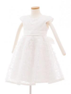 子どもドレス 5016 ホワイト スパンコール