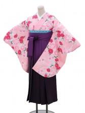 卒業袴レンタル h061ピンク