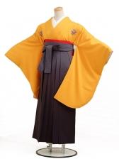 卒業袴レンタル h016黄色花紋