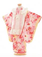 七五三(3歳女被布)F035SEIKO白×黄色バラ