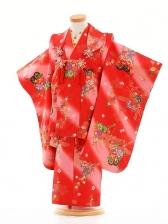 七五三(3歳女被布)F053赤ピンクぼかし