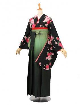卒業袴レンタル A160黒
