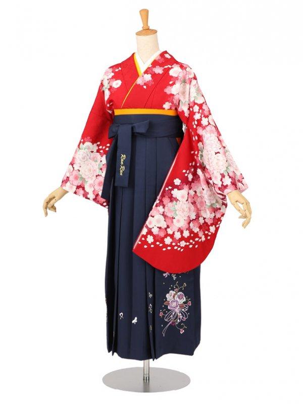 卒業袴レンタル A202赤