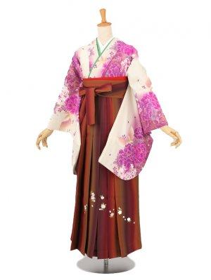 卒業袴レンタル A218白*紫
