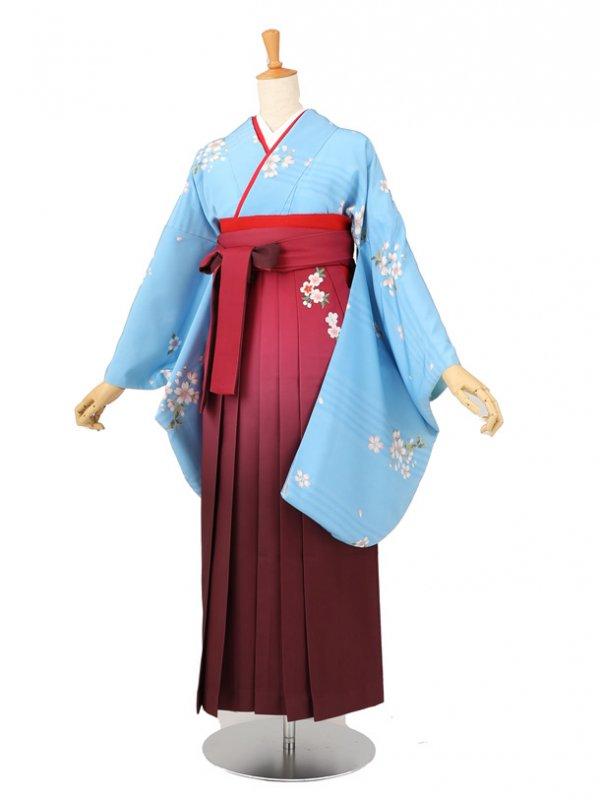 卒業袴レンタル A084水色