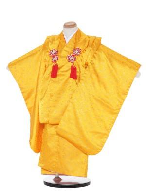 七五三(3歳女被布)被布F316黄色/花びら