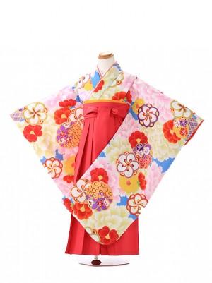 卒園式 ジュニア袴(女の子)花わらべ ピンク 7218