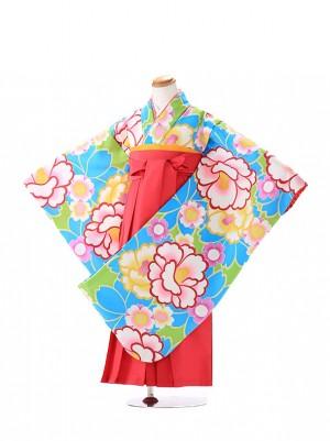 卒園式 ジュニア袴(女の子) 花わらべ 水色 7266