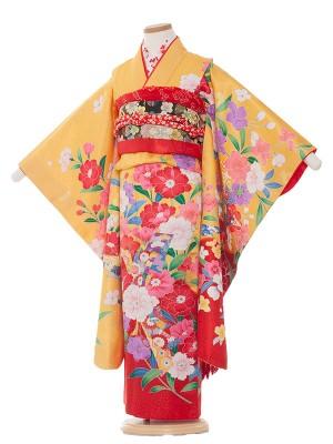 七五三レンタル(7歳女の子結び帯)7043黄色/福寿草