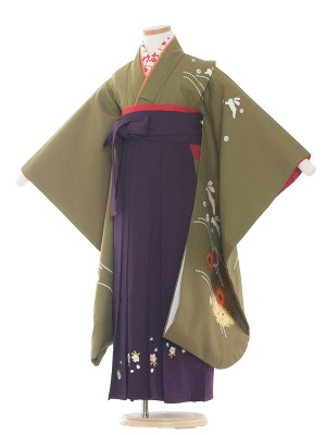 女児袴(7女) 9013 緑/ウサギ / 袴