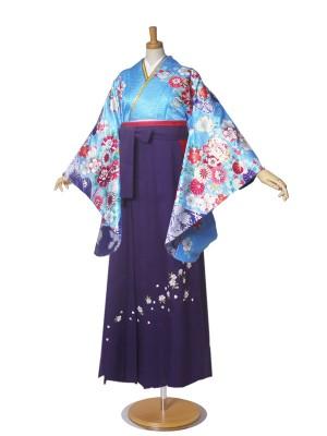 女性 二尺袖着物 絵羽柄 卒業式袴 anan