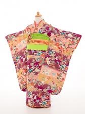 七五三(7歳女結び帯)正絹振袖sftf056紫/花