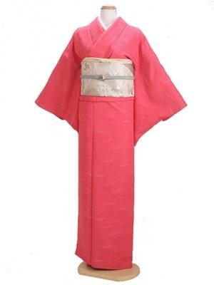 色無地 袷 10月~5月 ピンク色 0033