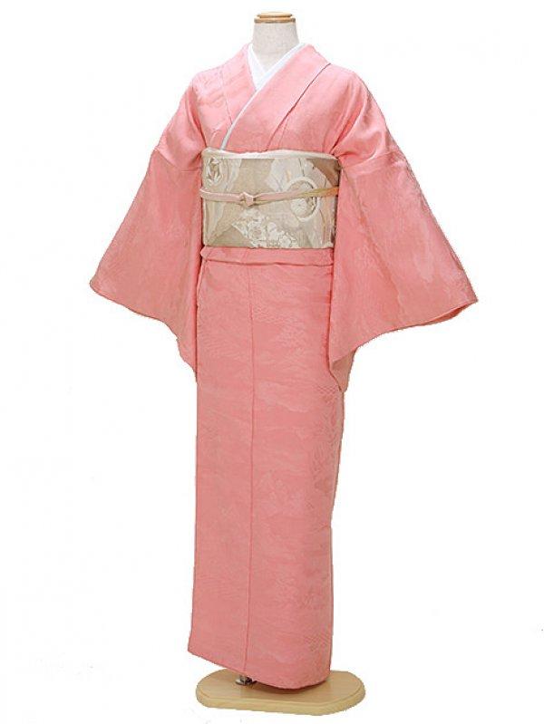 色無地 袷 10月~5月 ピンク色 0059