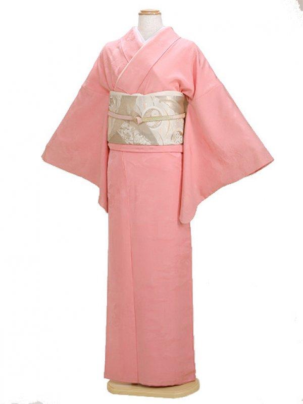 色無地 袷 10月~5月 ピンク色 0057