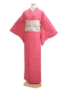 色無地 袷 10月~5月 ピンク色 0032