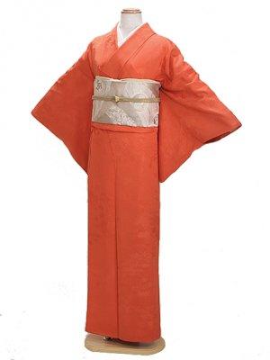 色無地 袷 10月~5月 オレンジ色 0021