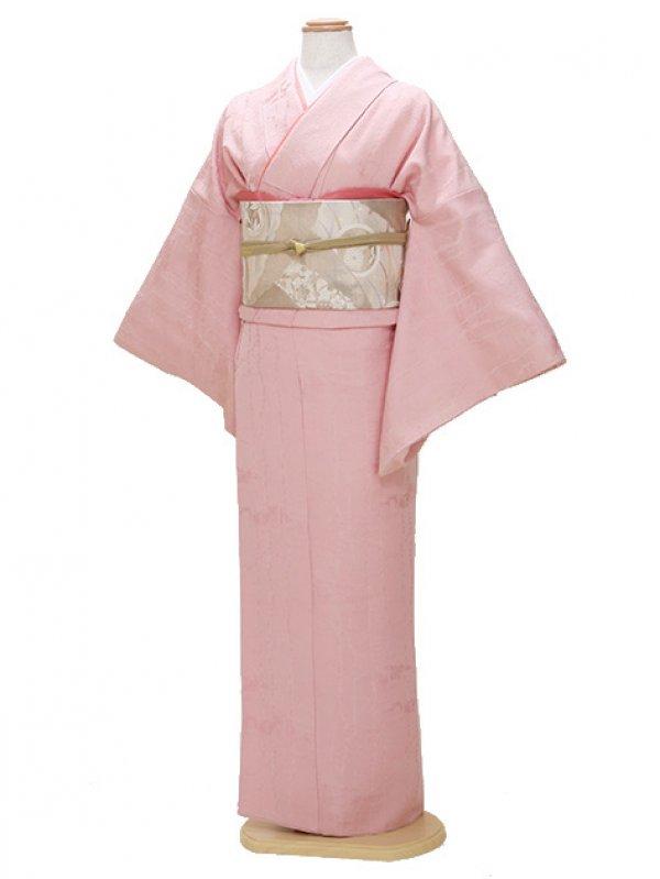 色無地 袷 10月~5月 濃ピンク色 0035