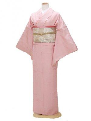 色無地 袷 10月~5月 ピンク色 0035