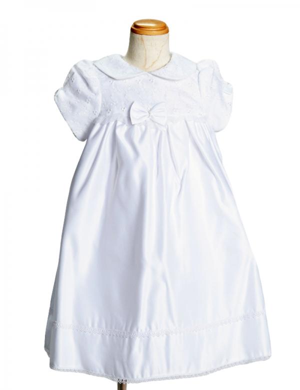 ホワイト90cm/バルーン袖ワンピース857