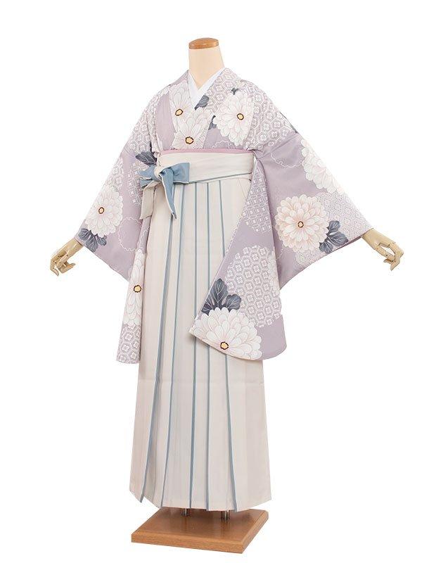 女袴(8362)クリーム古典/オレンジ袴87