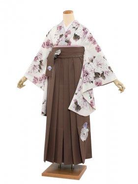 女袴(8356)生成りレトロ/緑袴87