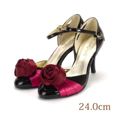 24.0 La La Cherie 8cmヒール 薔薇コサージュ