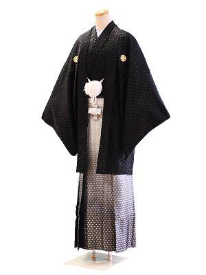 卒業式成人式男性用袴20-11黒/金刺繍 7号