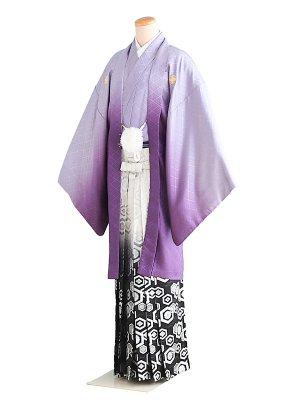 卒業式成人式男性用袴60-60紫ぼかし 8号