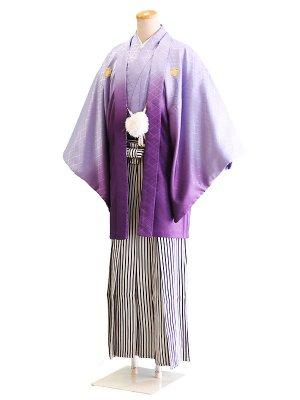 卒業式成人式男性用袴043紫/ぼかし 5号