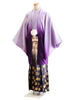 卒業式成人式男性用袴016紫/ぼかし 6号