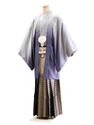 卒業式成人式男性用袴37-37グレー/ぼかし 6号