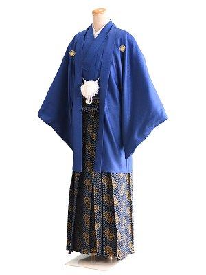 卒業式成人式男性用袴014青|紺/紋 6号