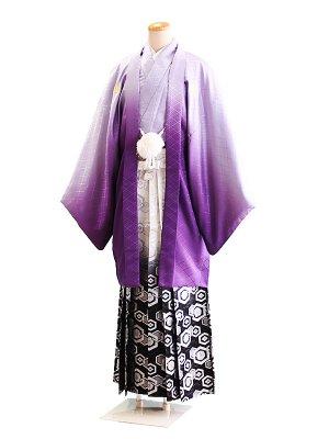 卒業式成人式男性用袴72-72紫ぼかし 6号