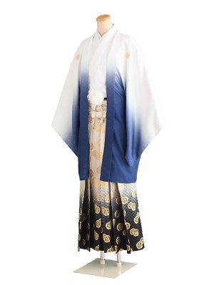 卒業式成人式男性用袴068白青ぼかし 7号