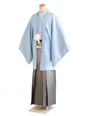 卒業式成人式男性用袴5-1水色|紺/紋 6号