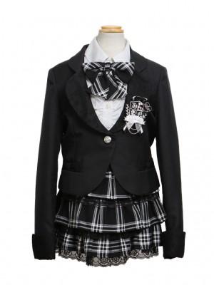 [女児スーツ]タータンチェック柄ミニスカート/HS10