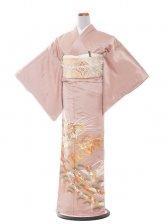 色留袖 16 ピンク/鶴の舞