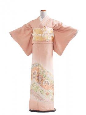 色留袖 21 ピンク縫取り/菊