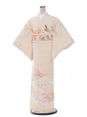 色留袖 11 クリームベージュ/季節花