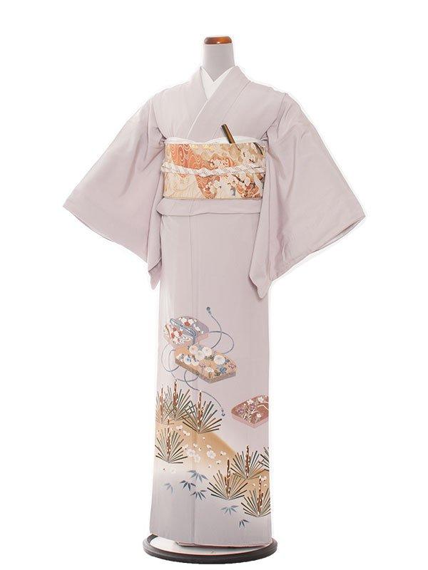 色留袖 25 淡いパーフルグレー/松