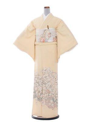 色留袖 20 クリーム縫取り/彩香しだれ桜