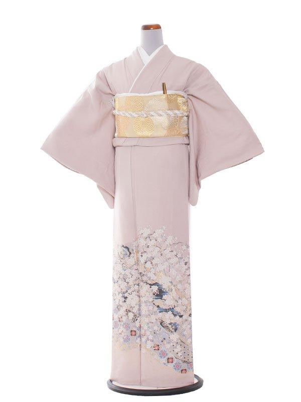 色留袖 19 ピンク縫取り/宮廷しだれ桜