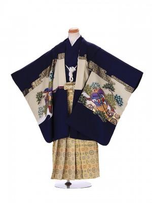 5歳 男袴 (七五三レンタル)G131 青