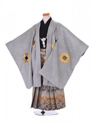 5歳 男袴 (七五三レンタル)G133 白