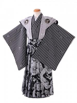 七五三レンタル(5歳 男袴)G118 黒 裃