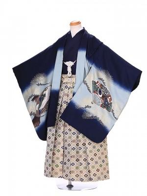 7歳 男袴 (卒園 七五三) G102  青