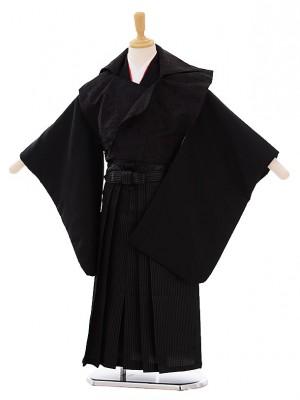 七五三(5歳男袴)G021 黒地 変わり袴