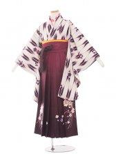 ジュニア(13女)jh1318紫 矢絣/ワインぼかし