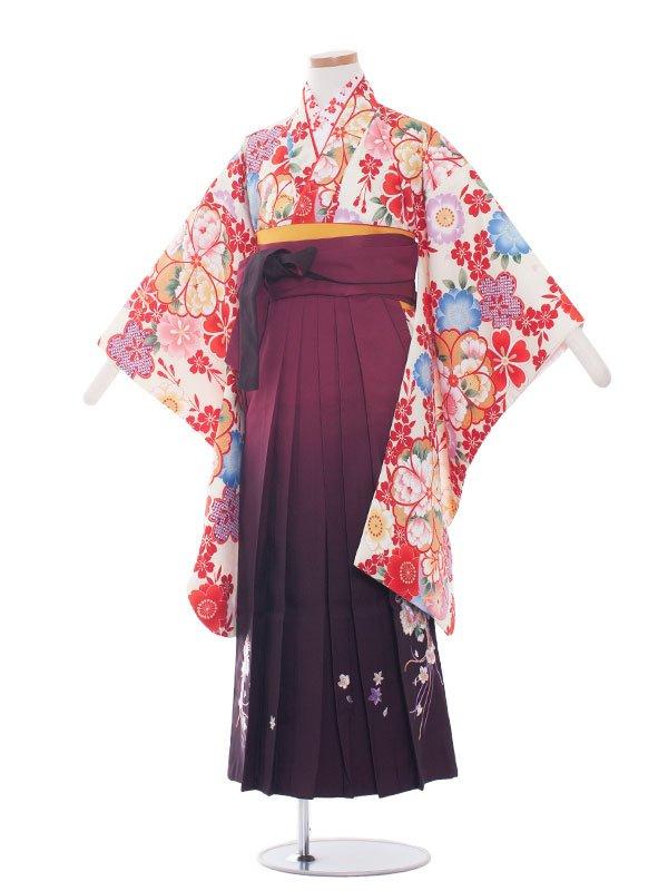 小学生卒業袴(女の子)1308きなり/古典柄